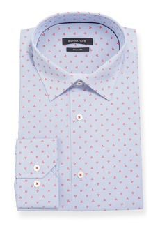 Bugatchi Men's Shaped-Fit Triangle Dress Shirt