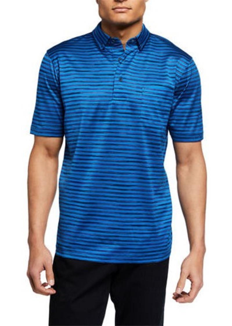 Bugatchi Men's Stripe Mercerized Knit Polo Shirt