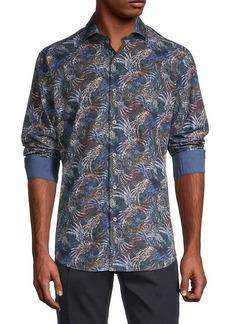 Bugatchi Plant Print Shirt