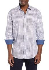 Bugatchi Shaped Fit Pattern Sport Shirt