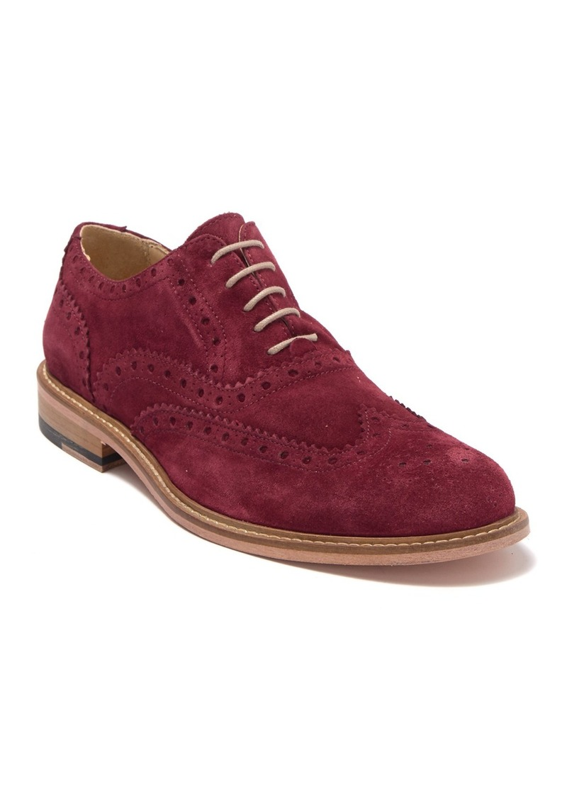 Bugatchi Suede Wingtip Brogue Oxford