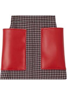 Burberry Pocket Detail Tartan Dry Wool Mini Skirt