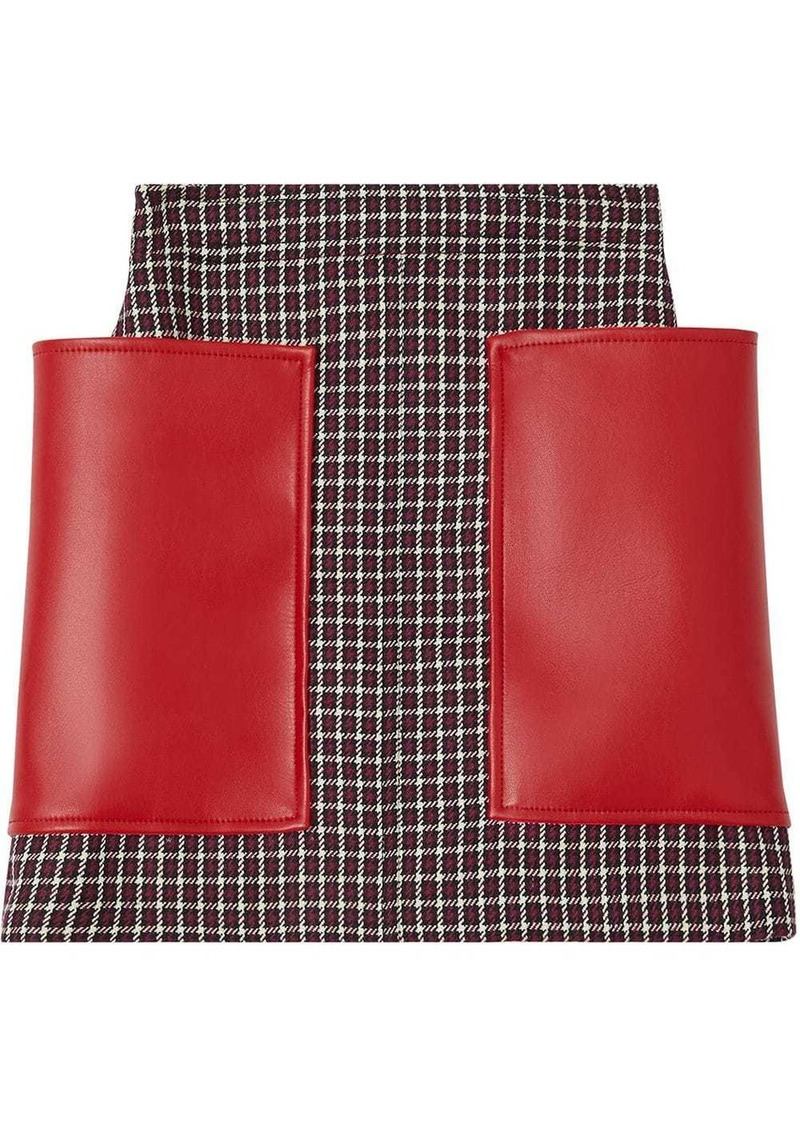Burberry Pocket Detail Tartan Dry Wool Mini Skirt