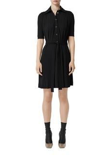 Burberry 1/2-Sleeve Jersey Shirtdress
