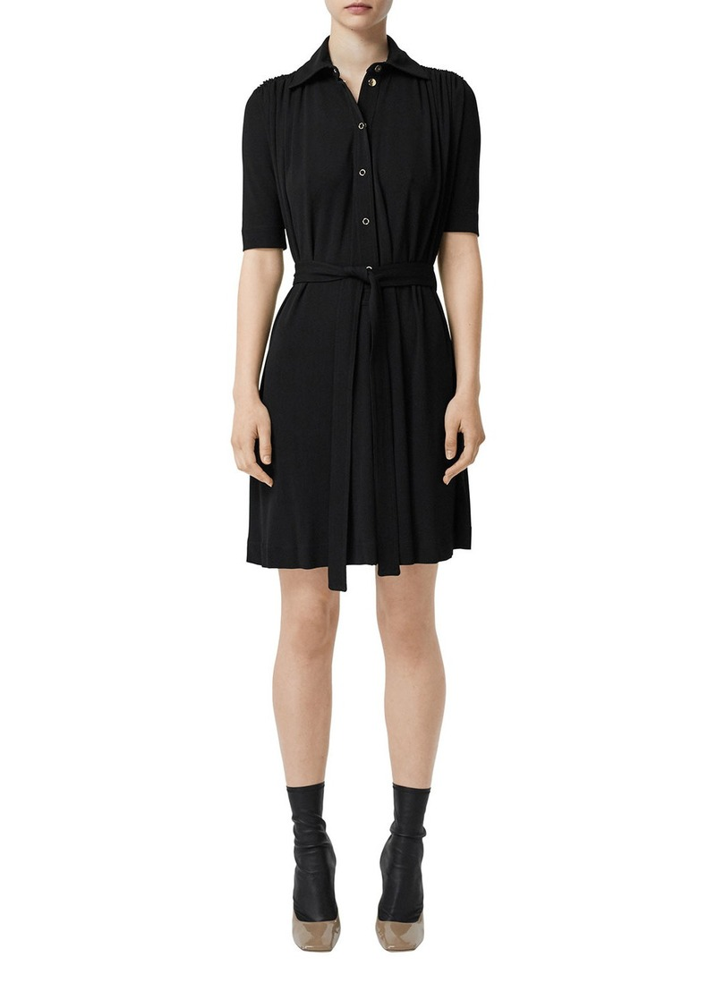 Burberry 1/2-Sleeve Jersey Shirtdress