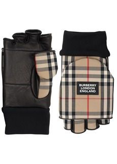 Burberry 3-in-1 Check Cotton Blend Gloves