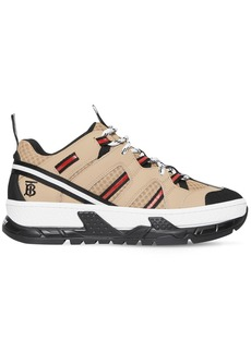 Burberry 40mm Rs5 Leather & Mesh Sneakers
