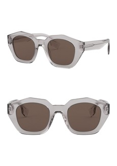 Burberry 46mm Irregular Sunglasses