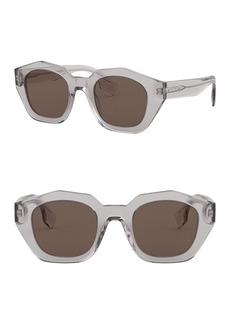 Burberry 46mm Irregular Sunglasses