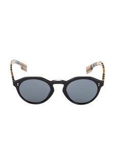 Burberry 48MM Round Sunglasses