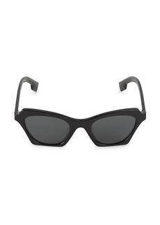 Burberry 49MM Angular Cat Eye Sunglasses