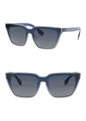 Burberry 50mm Square Sunglasses