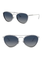 Burberry 51mm Glitter Pilot Sunglasses
