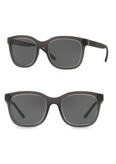 Burberry 54MM Lite Brown Square Sunglasses