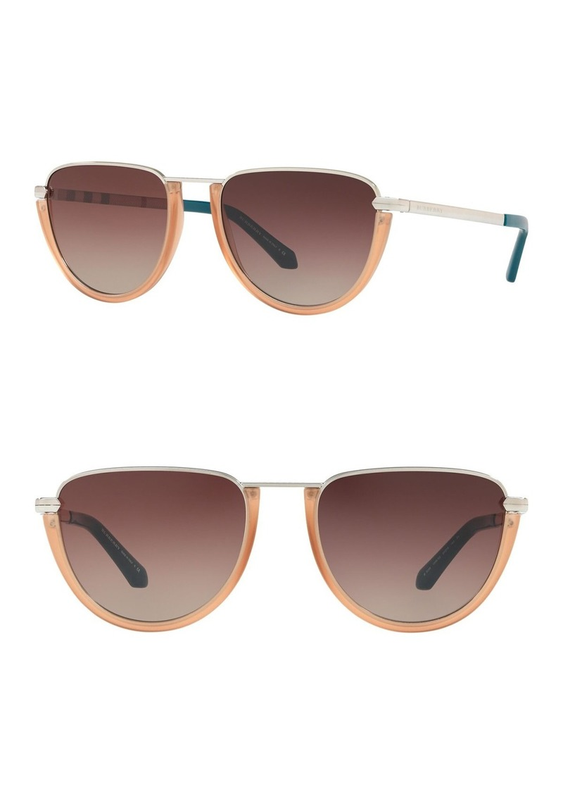 Burberry 54mm Modified Pilot Sunglasses