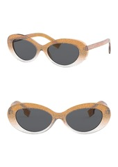 Burberry 54mm Oval Sunglasses