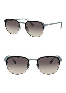 Burberry 54mm Pilot Sunglasses