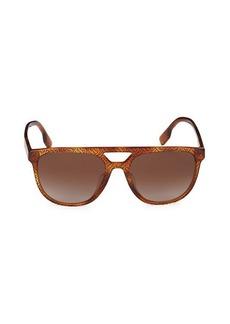 Burberry 56MM Square Sunglasses