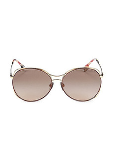 Burberry 60MM Round Sunglasses