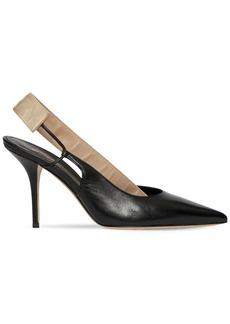 Burberry 90mm Maria Leather Sling Back Pumps