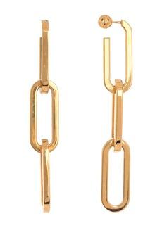 Burberry Chain Link Drop Earrings
