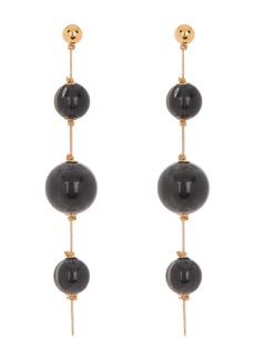 Burberry Triple Orb Chain Drop Earrings