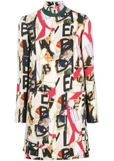 Burberry Abito Zoya printed mini dress