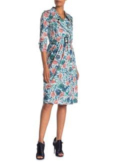 Burberry Agatha Floral Notch Lapel Dress