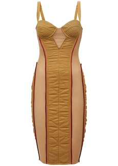 Burberry Alanis Quilted Nylon & Cotton Dress