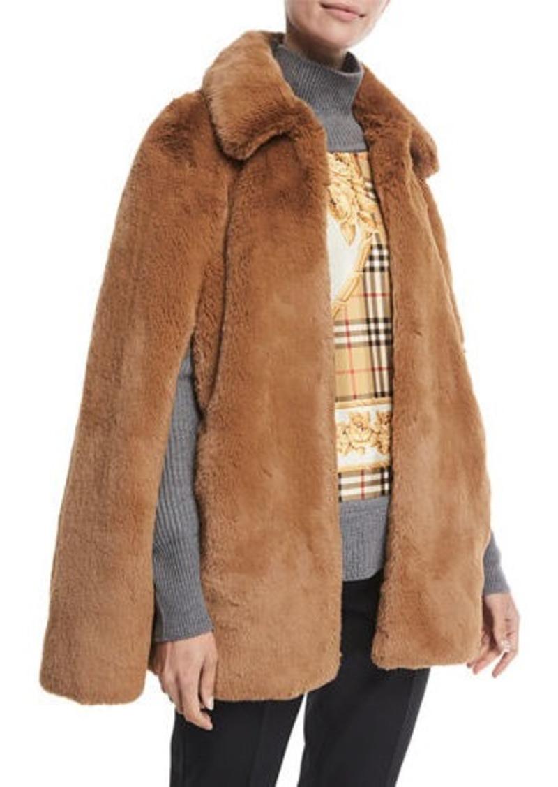 Burberry Allford Faux-Fur Cape