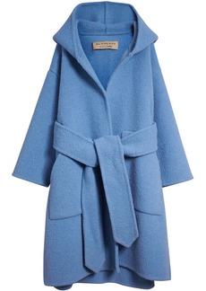 Burberry Alpaca Wool Blend Dressing Gown Coat