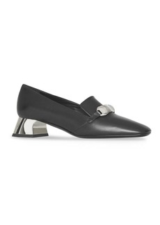 Burberry Amika Square Toe Leather Pumps