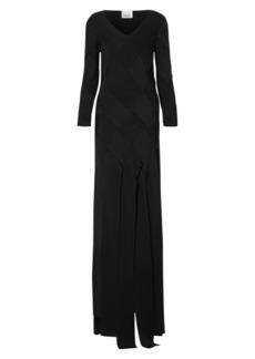 Burberry Anatori Woven Ribbon-Hem Gown