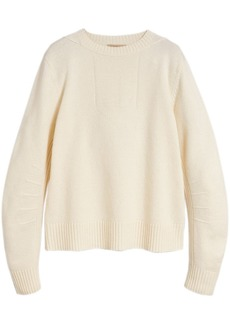 Burberry anchor intarsia sweater
