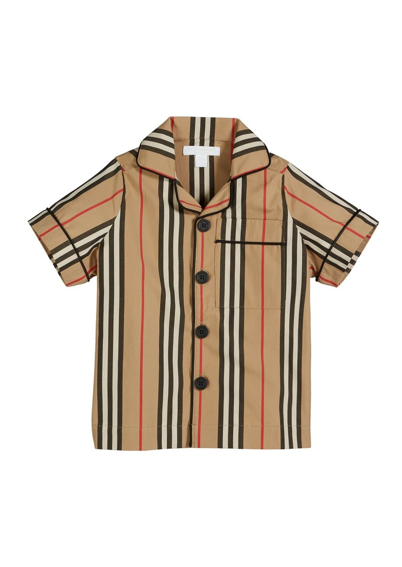 Burberry Andres Icon Stripe Short-Sleeve Top  Size 3-14