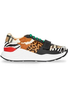 Burberry Animal Print and Vintage Check Sneakers