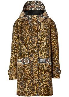 Burberry animal print hooded coat