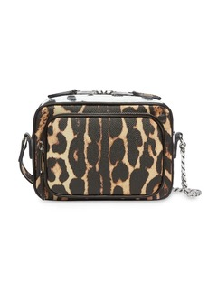 Burberry Animal Print Leather Camera Bag