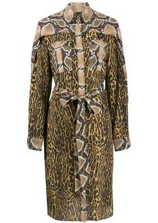 Burberry animal print shirt dress