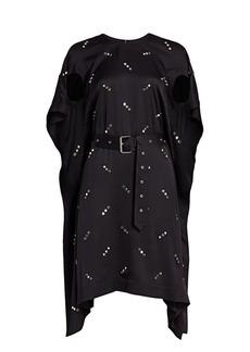 Burberry Antonina Studded Mulberry Silk Handkerchief Dress