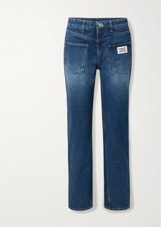 Burberry Appliquéd Mid-rise Straight-leg Jeans