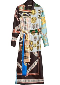 Burberry archive scarf print silk dress