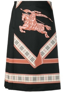 Burberry Archive scarf print skirt