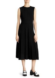 Burberry Aria Box-Pleat A-Line Dress
