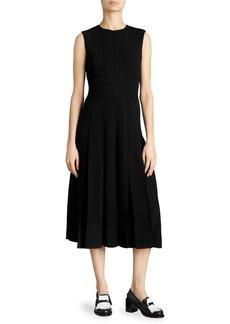 Aria Box-Pleat A-Line Dress