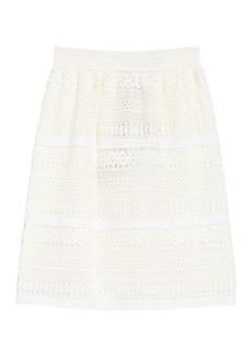 Burberry Aronia Abizt Crochet Lace Skirt