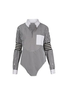 Burberry Asymetric shirt with stripes