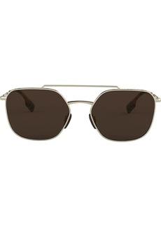 Burberry aviator frame sunglasses