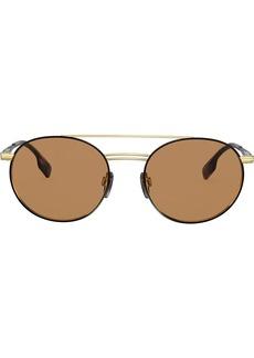Burberry aviator round frame sunglasses