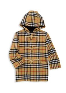 Burberry Baby Boy's & Little Boy's Brogan Check Hooded Wool Jacket